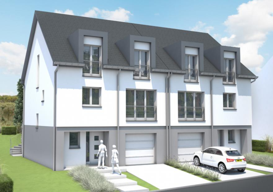 Nos maisons et appartements vendre claude rizzon immobilier luxembourg - Maisons jumelees ...